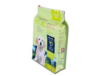 5.5kg dog food packaging square bottom box pouch with slider zipper