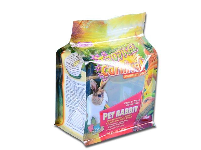 ziplock Pet Rabbit treat box pouch packaging bag