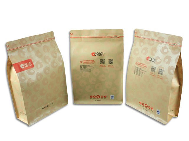 Kraft paper plastic laminated box pouch for food packaging