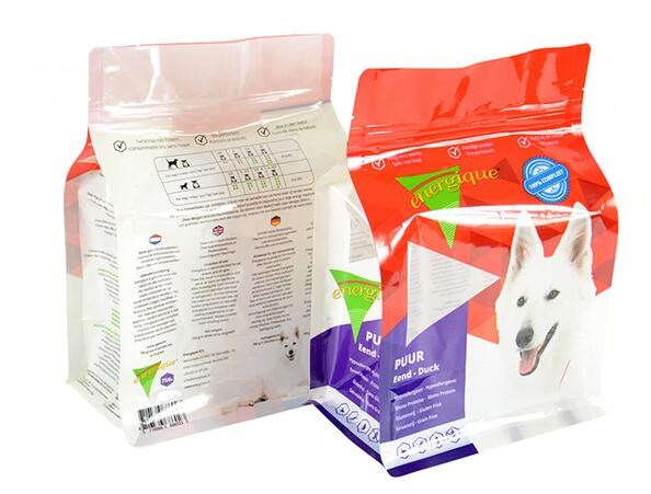 Flexible packaging pouch dog food bag